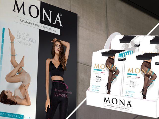 Projekt opakowania dla rajstop Mona